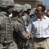 With Obama´s support , Schwarzenegger send soldiers to border with Mexico.