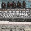 Mexican marines seized rifles, uniforms and ammo from the gangster army Zetas.