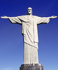 Statue of Jesus Christ Redeemer in Corcovado in Rio de Janeiro