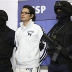 Suspected Mexican drug trafficker Vicente Carrillo Leyva is presented to the media in Mexico City April 2, 2009. Carrillo is the son of Amado Carrillo Fuentes, the founder of the Juarez cartel