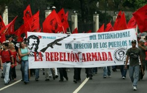 Supporters-of-Farc-marching-in-Caracas-Venezuela-march-26th-2009