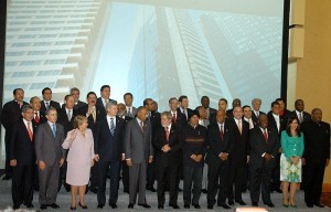 Photo of the Leaders of The Americas during 5th Summit