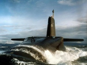 British Ballistic Submarine SSBN, with nuclear missiles.
