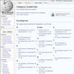 Categories information of Guatemala in Wikipedia - click here