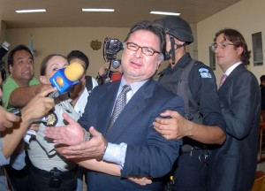 Former President Alfonso Portillo Cabrera with handcuffs