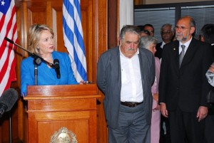 Hillary Clinton and President of Uruguay, José Mujica