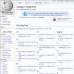 Information Categories of Argentina in Wikipedia - click here