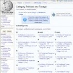 Information Categories of Trinidad and Tobago in Wikipedia - click here