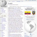 Main Information of Ecuador in Wikipedia - click here