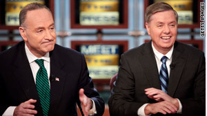 Sen. Charles Schumer, left, and Sen. Lindsey Graham have laid out plans for immigration reform.