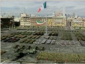 Mexican Army Parade in El Zocalo (Mexico City)