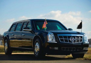 Full armored Presidential State Car of the United States. Also known as Cadillac One