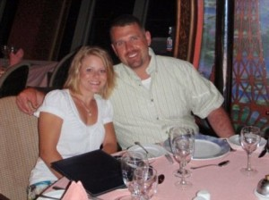 Horrifying twist: Tiffany Hartley with husband David, who has been missing since September 30. The lead Mexican investigator in his case has been beheaded
