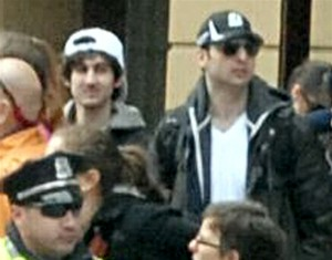 New-fbi-photo-boston-suspects. The man in the right was killed by Police, the other one was captured