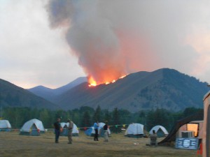 The Americas Security News. Wildfire in Idaho.