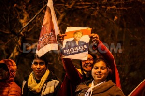 America Security News.- Supporters of Michelle Bachelet in Chile, elections 2013.