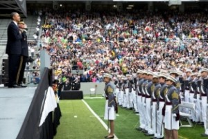 The Americas Security News.- President Obama participates in the commencement ceremony in Michie Stadium at West Point, May 28, 2014. Photo Credit to White House and Pete Souza