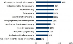 Figure 1 - Areas of Acute Cybersecurity Skills Shortage