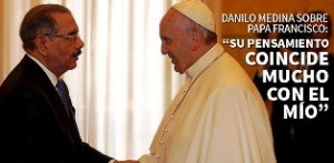 Dominican President Danilo Medina meets the Holy Father.