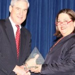 FBI Director Robert S Mueller III and Parry Aftab - Recipient of the FBI Director's Award 2010