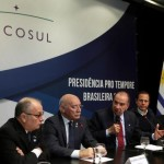 FILE PHOTO - Foreign Ministers of Mercosur, Argentina's Jorge Faurie, Paraguay's Eladio Loizaga, Brazil's Aloysio Nunes Ferreira and Uruguay's Rodolfo Nin Novoa, and Sao Paulo's mayor Joao Doria attend a media conference after their South American trade bloc Mercosur meeting in Sao Paulo, Brazil August 5, 2017. Photo credit to REUTERS/Paulo Whitaker REUTERS